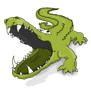 Krokodil im Kopf