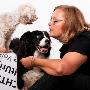 karin immler und die hunde im fotostudio