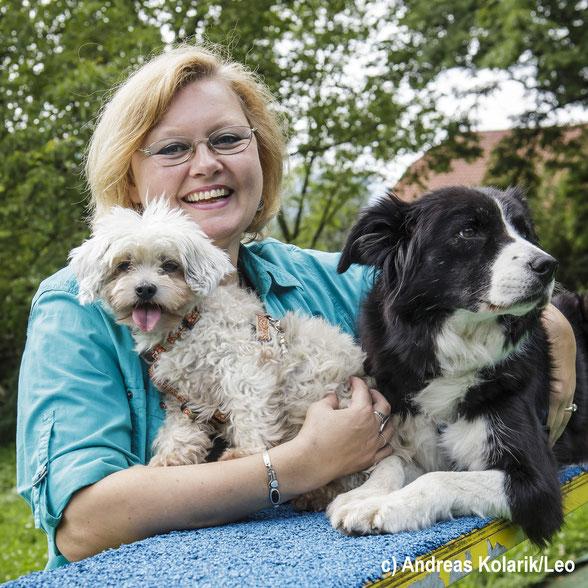 Karin Immler mit Hunden