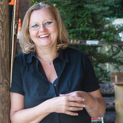 Karin Immler in der Hundeschule