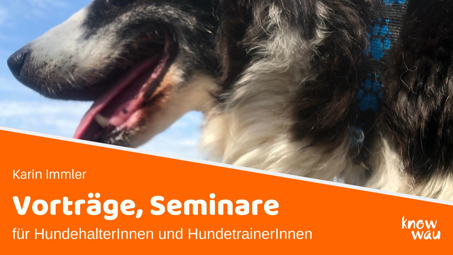 Vorträge und Seminar für HundehalterInnen und HundetrainerInnen